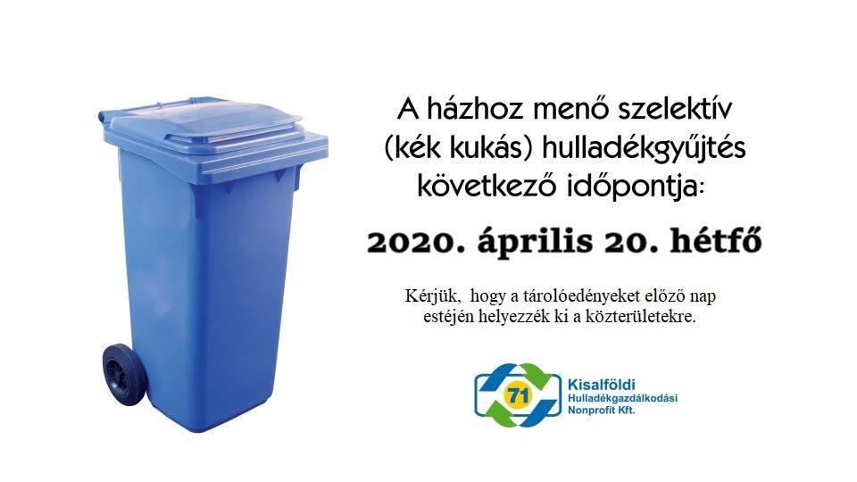 Szelektív hulladékgyűjtés időpont